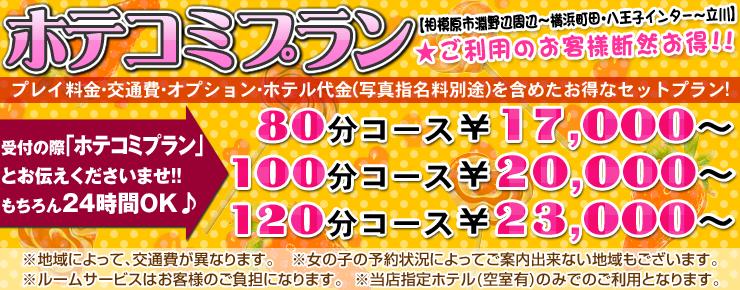 町田・相模原デリヘル|ぽっちゃり巨乳風俗「ぷよラブ れぼりゅーしょん」のホテコミコースです